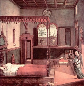 Vittore Carpaccio, The Dream of St. Ursula, 1495–1500